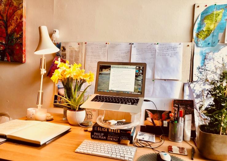 Author L.J. MacWhiter's writing desk